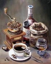 """Набор алмазной вышивки """"Кофе. Натюрморт"""""""