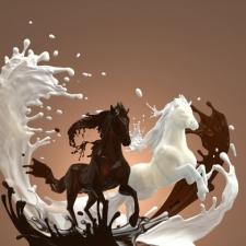 """Набор алмазной вышивки """"Кофе с молоком. Лошади"""""""