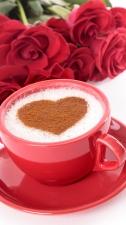 """Набор алмазной вышивки """"Кофе с розами для любимой"""""""