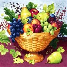 """Набор алмазной вышивки """"Корзинка с фруктами и ягодками"""""""