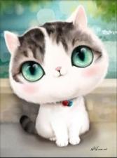 """Набор алмазной вышивки """"Кот с зелеными глазами"""""""