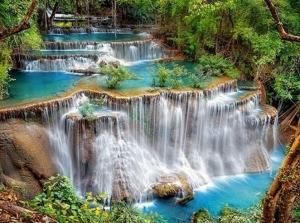 """Набор алмазной вышивки """"Красивый водопад в лесу"""""""