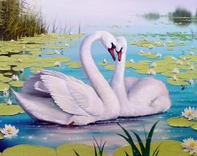 """Набор алмазной вышивки """"Лебеди. Любовь"""""""