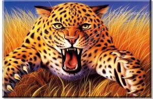 """Набор алмазной вышивки """"Леопард Хищник"""""""