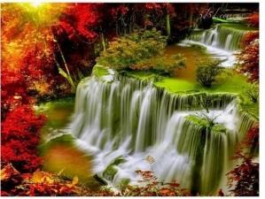 """Набор алмазной вышивки """"Лесные водопады"""""""