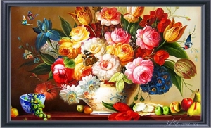 """Набор алмазной вышивки """"Летний букет тюльпаны и розы"""""""