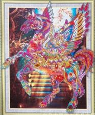 """Набор алмазной мозаики """"Лошадка - символ чистоты, целомудрия, красоты"""""""