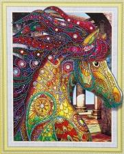 """Набор алмазной мозаики """"Лошадка - символ красоты"""""""