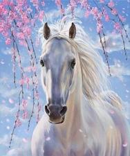 """Набор алмазной мозаики """"Лошадка в цвету"""""""