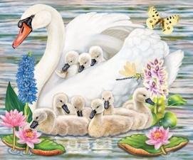 """Набор алмазной вышивки """"Любимая мамочка. Лебеди"""""""