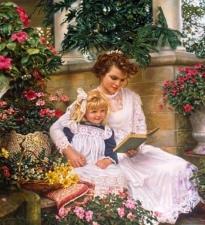 """Набор алмазной вышивки """"Мама читает сказку"""""""