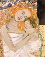 """Набор алмазной мозаики """"Мать и дитя, худ. Густав Климт"""""""