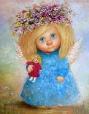 """Набор алмазной вышивки """"Милая девочка, ангелы Чувиляевой"""""""