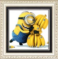 """Набор алмазной вышивки """"Миньон с бананами"""""""