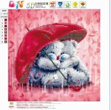 """Набор алмазной вышивки """"Мишки под зонтиком"""""""