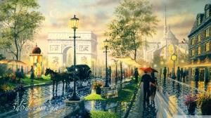 "Набор алмазной мозаики ""На улицах Парижа"""