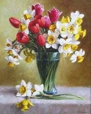 """Набор алмазной мозаики """"""""Нарциссы и тюльпаны"""""""