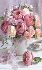 """Набор алмазной мозаики """"Нежные розовые розы"""""""