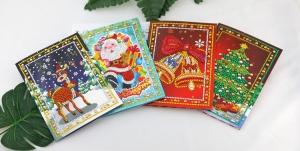 """Набор алмазной вышивки """"Новогодние, Рождественские открытки"""""""