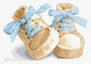 """Набор алмазной вышивки """"Обувка для новорожденного"""""""