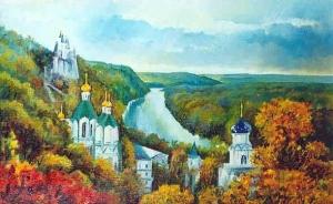 """Набор алмазной вышивки """"Осень. Свято-Успенская Лавра Святогорск. Живопись"""""""