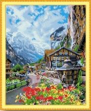 """Набор алмазной мозаики """"Отдых в горах"""""""