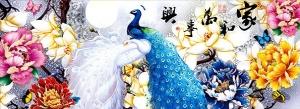 """Набор алмазной мозаики """"Павлин - гармония в семье"""""""