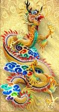 """Набор алмазной мозаики """"Разноцветный дракон - символ творческой энергии"""""""