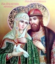 """Набор алмазной мозаики """"Петр и Феврония – святые покровители семьи и брака"""""""