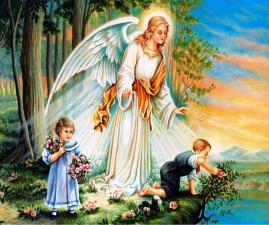 """Набор алмазной мозаики """"Под защитой ангела"""""""