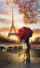 """Набор алмазной мозаики """"Под зонтиком в Париже"""""""