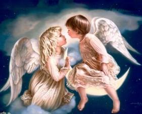 """Набор алмазной вышивки """"Поцелуй ангелов"""""""