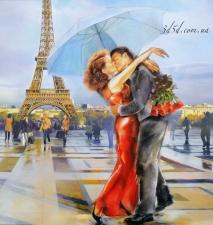 """Набор алмазной вышивки """"Поцелуй в Париже"""""""