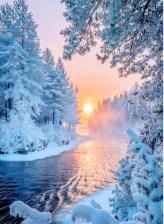 """Набор алмазной вышивки """"Рассвет. Зима"""""""