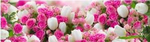 """Набор алмазной мозаики """"Белые тюльпаны и розовые розы"""""""