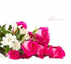 """Набор алмазной вышивки """"Розовые розы Букет"""""""