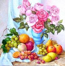 """Набор алмазной мозаики """"""""Розы и фрукты"""""""