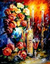 """Набор алмазной вышивки """"Розы и свечи по мотивам Афремова"""""""