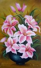 """Набор алмазной мозаики """"Шикарные розовые лилии"""""""