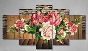 """Набор алмазной мозаики """"Шикарный букет роз"""""""