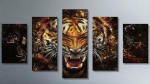 """Набор алмазной мозаики """"Сильный тигр - защитный талисман"""""""