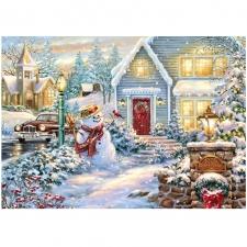 """Набор алмазной вышивки """"Снеговик. Достаток в дом"""""""