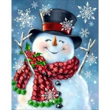 """Набор алмазной вышивки """"Снеговик. Не грусти, жизнь прекрасна"""""""