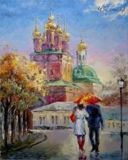 """Набор алмазной вышивки """"Дорога к храму. Киев"""""""
