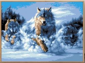 """Набор алмазной мозаики """"Стая волков"""""""