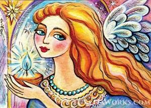"""Набор алмазной вышивки """"Тепло в дом. Ангел света"""""""