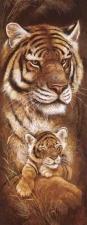 """Набор алмазной вышивки """"Тигрица в малышом"""""""