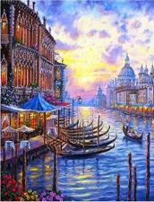 """Набор алмазной мозаики """"Тихая Венеция"""""""
