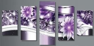 """Набор алмазной мозаики """"Цветы и бриллианты"""""""