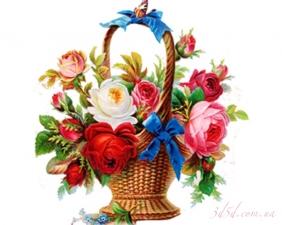 """Набор алмазной вышивки """"Цветы на подарок в корзинке"""""""